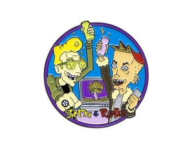 Image of Wes Archer - Jac Mac & Rad Boy Go! Enamel Pin