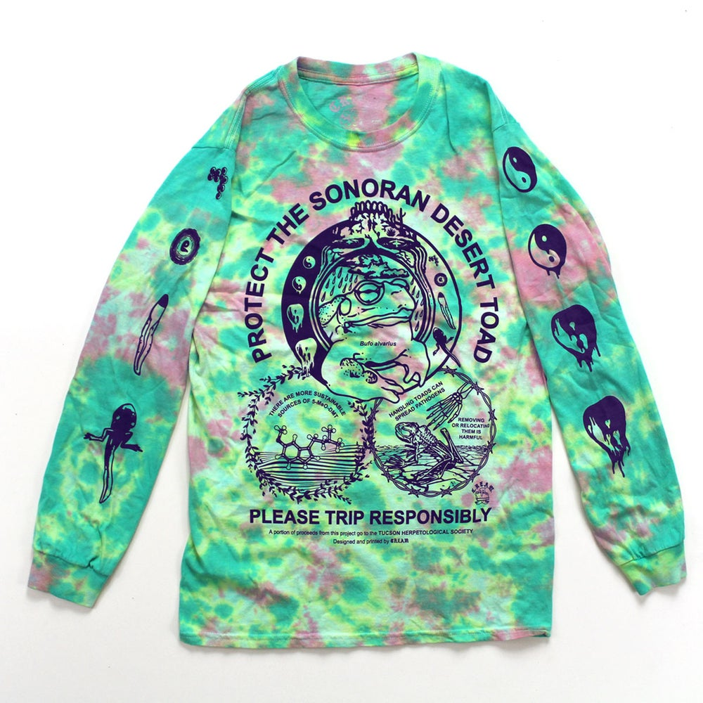 """""""Protect the Toad"""" - Tie-Dye Long Sleeve"""