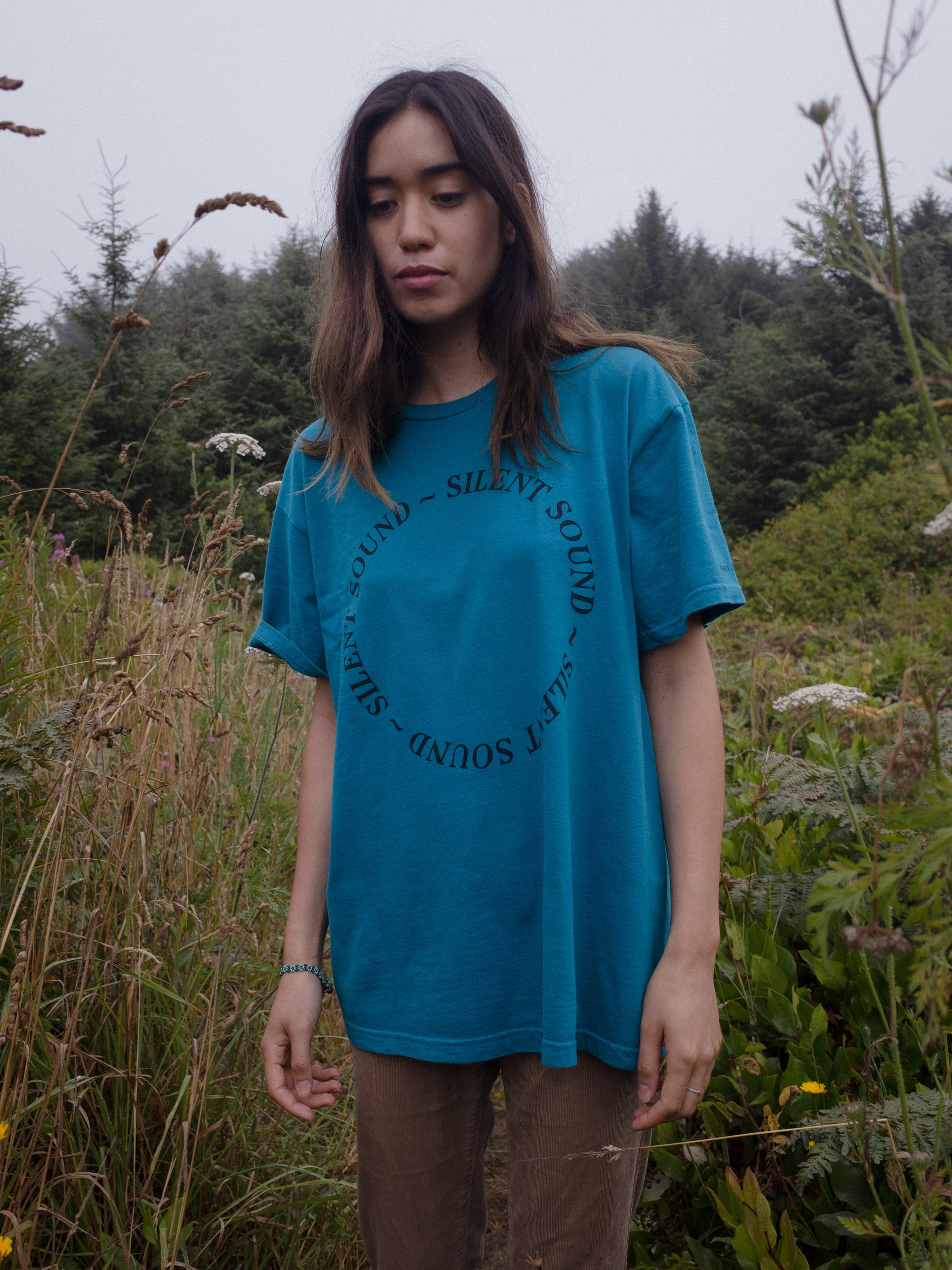 Image of S/S Circle Tee - Teal / Black