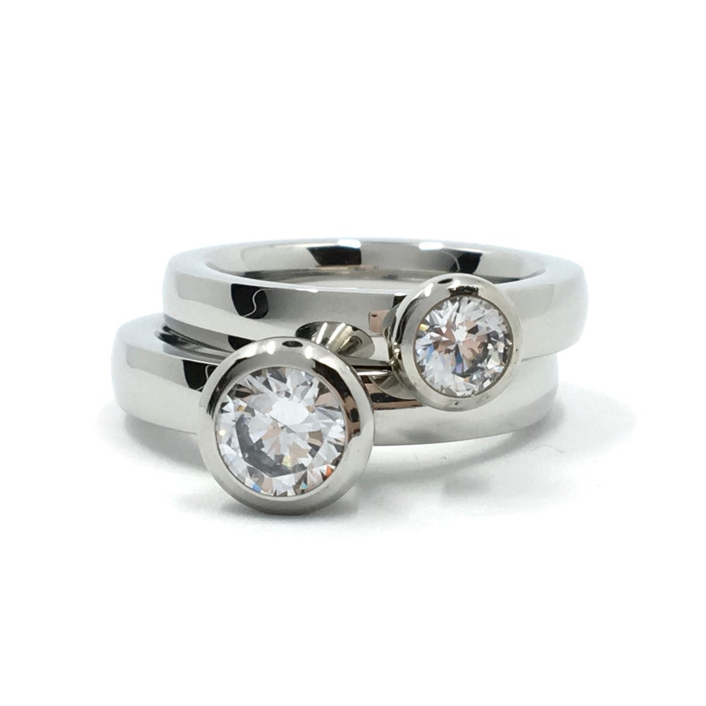 Image of Steckring SOLITAIRE silber