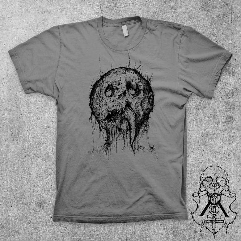 Image of DEAD HEAD TEE (GREY & NATURAL)
