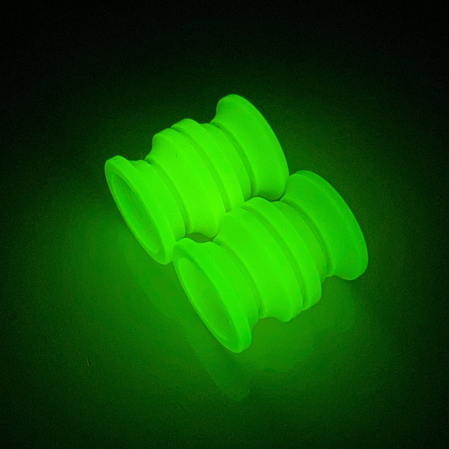Image of Large Yellow with Green Glow TurboGlow