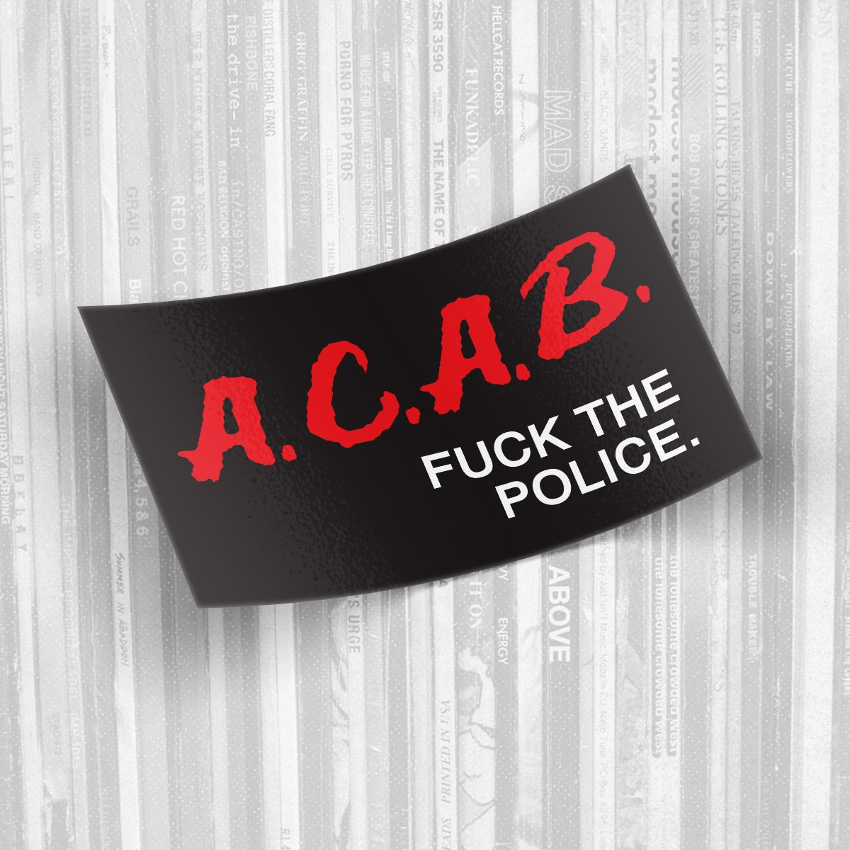 ACAB - D.A.R.E. sticker spoofs