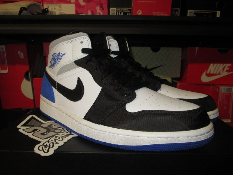 "Image of Air Jordan I (1) Retro Mid ""Hyper Royal/Smoke Grey"""