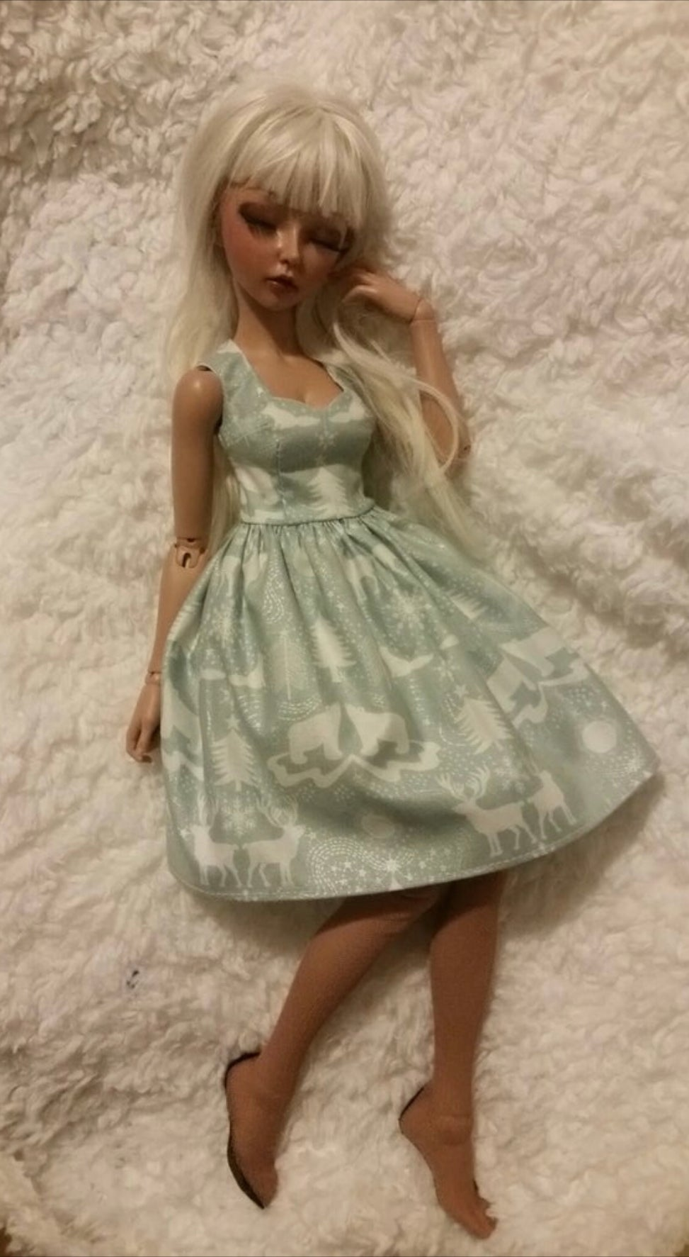 Vintage Winter Wonderland Minifee Dress