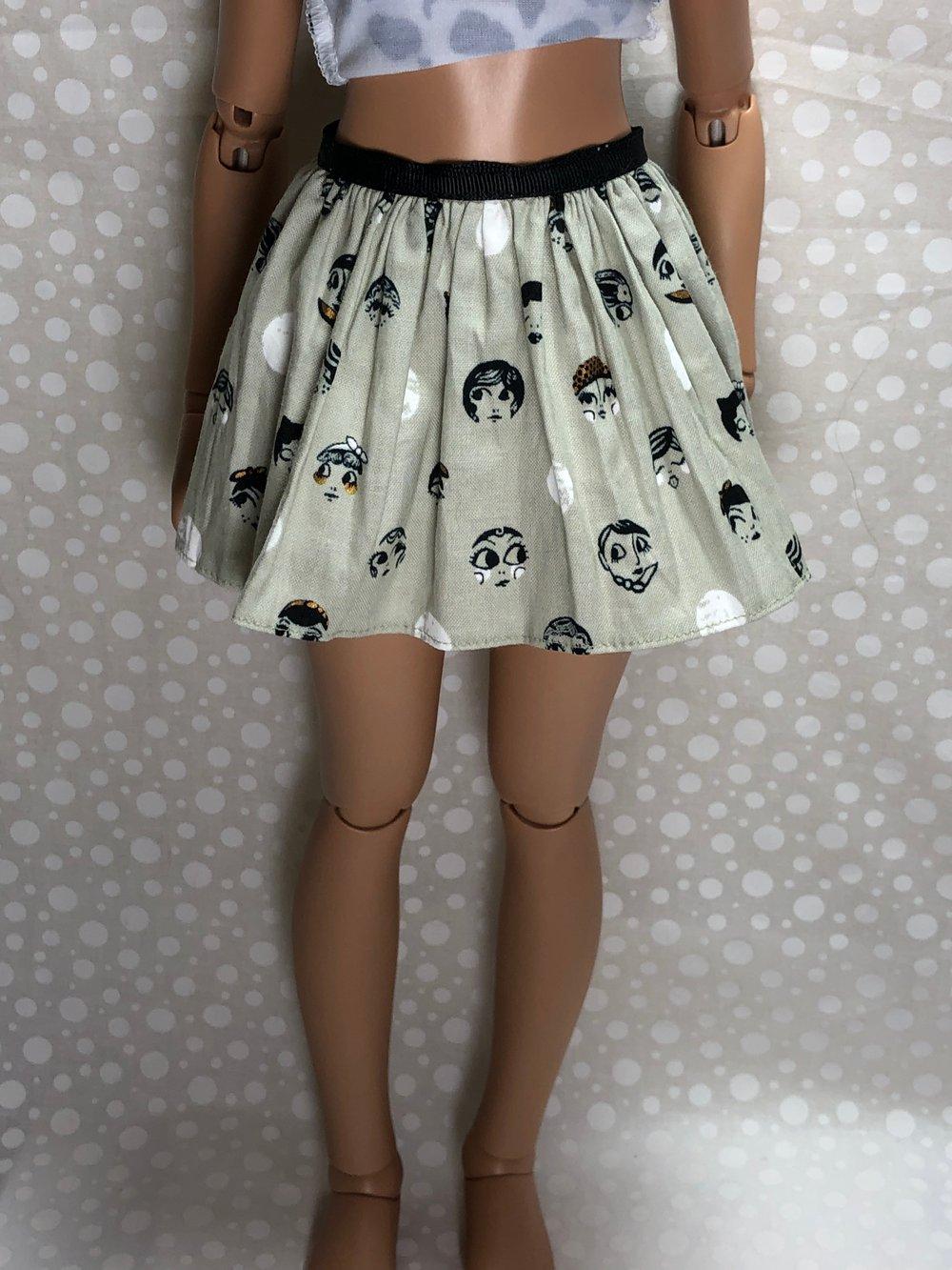 20's Doll Faces Skirt for Feeple60