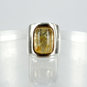 Image of Golden Rutilated Quartz cocktail ring