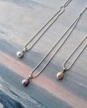 Dainty freshwater pearls pendant
