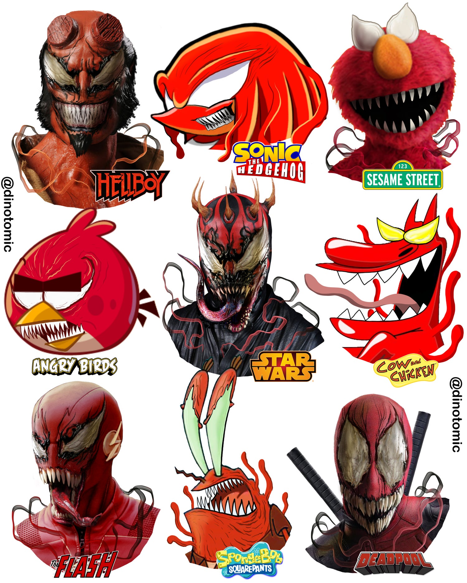 Image of #251 Red characters as Carnage!