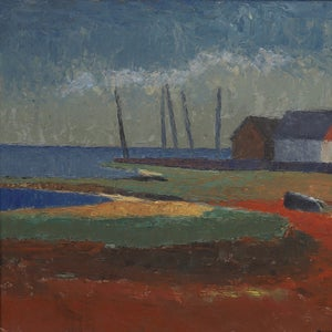 Image of Mid Century, Swedish Seascape Painting, THURE WAHLSTRÖM. (1908 -1998)