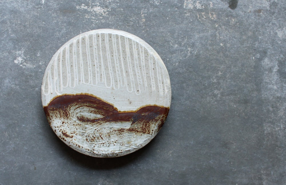 Image of A raised plate/wall piece #artistsupportpledge
