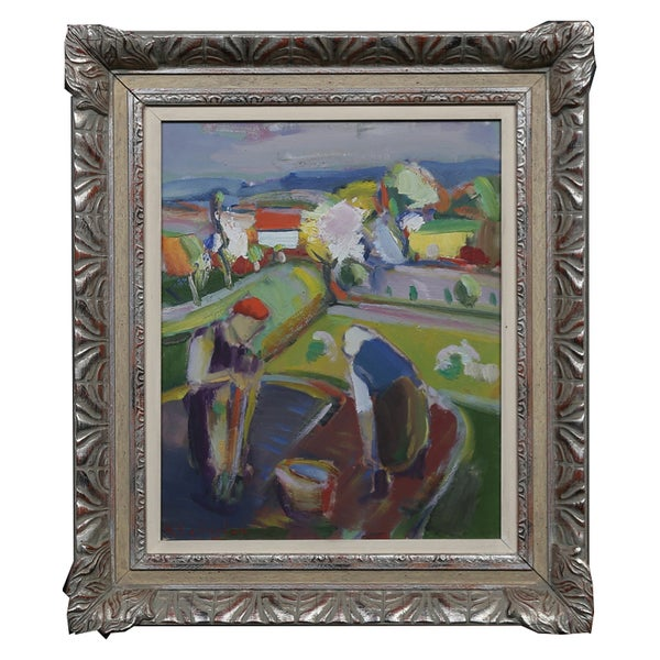 Image of Mid Century Swedish Painting,' Grow your Own,' K.E. Jönsson