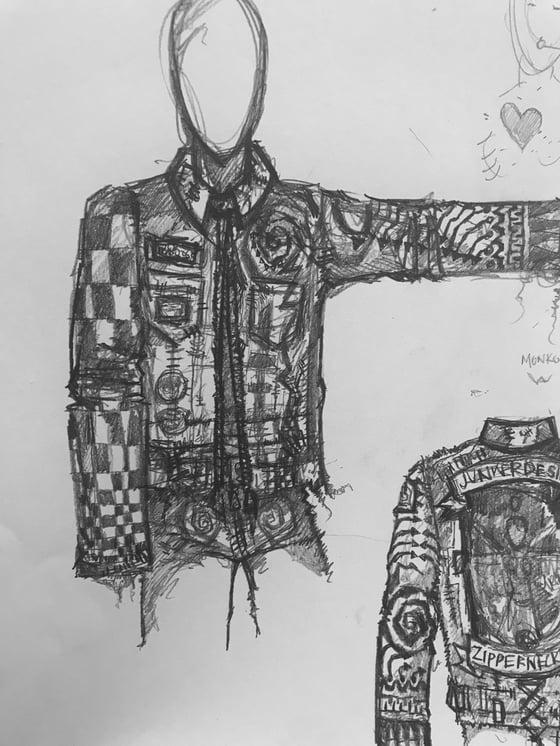 Image of Destroyed Denim Jacket