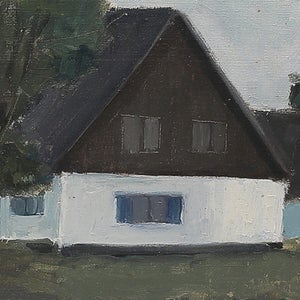 Image of Mid Century, Swedish Painting, 'Home Again,' KJELL-ERIK KRISTIANSSON
