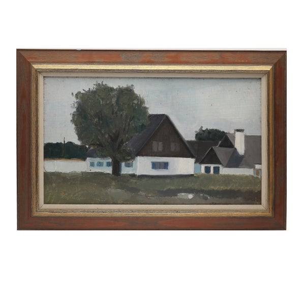 Image of Mid Century, Swedish Painting, 'Home Again,' KJELL-ERIK KRISTIANSSON