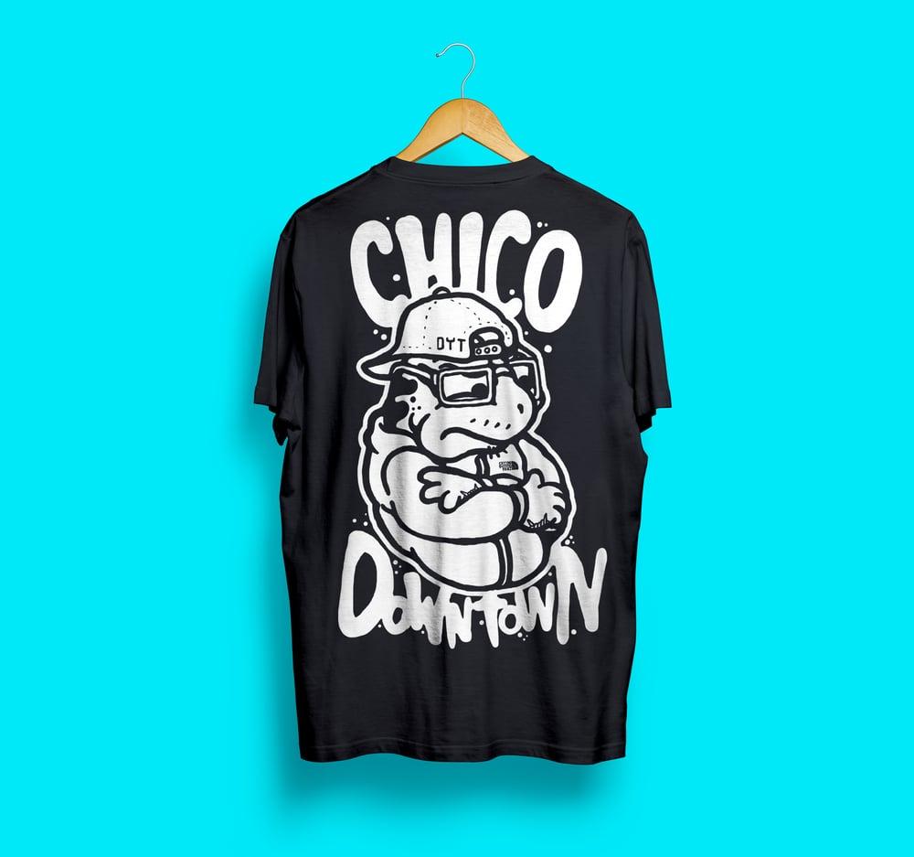 Image of Chico Downtown Black Tshirt - Eiknarf x Jurassic Panz