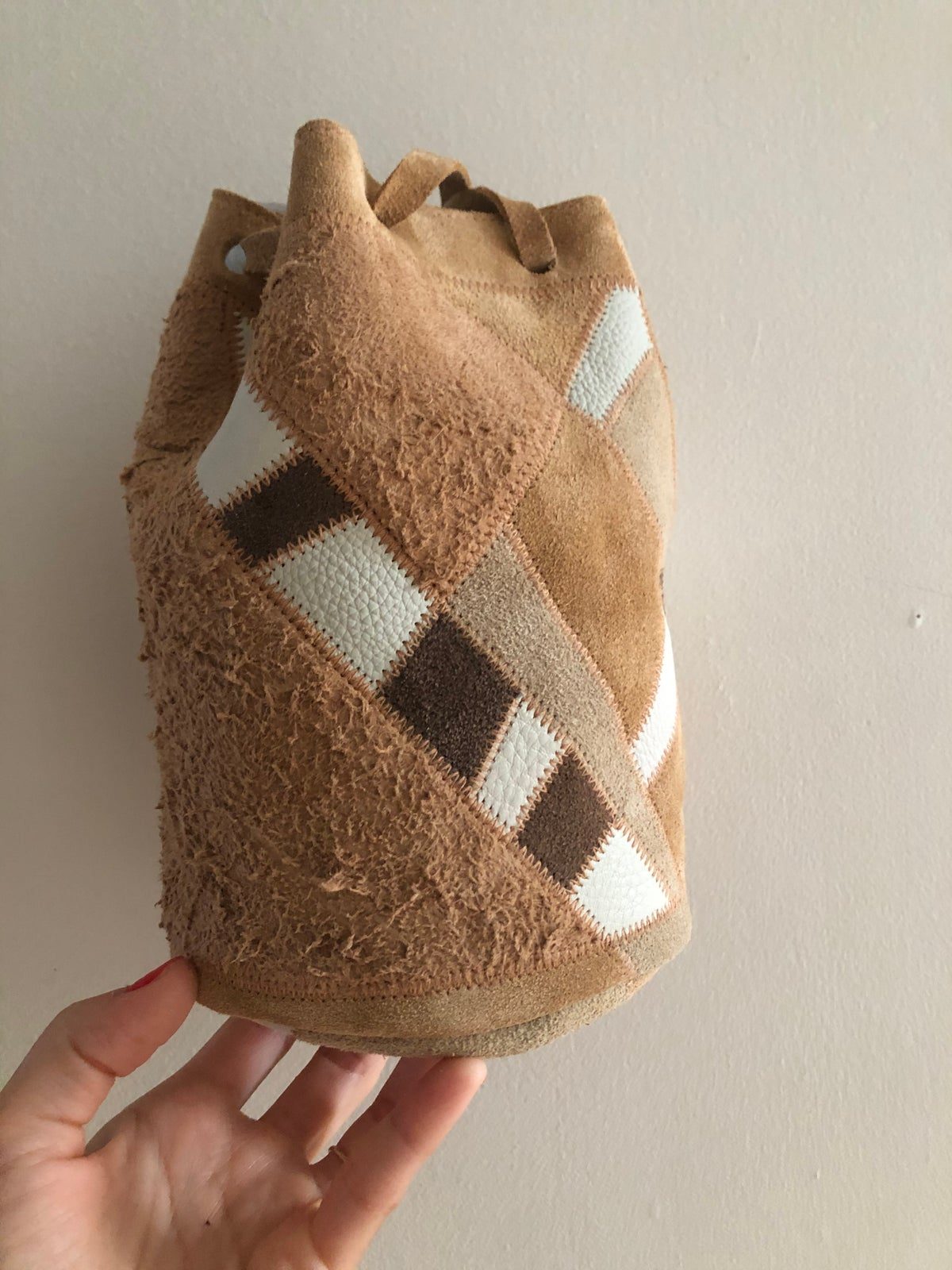Image of Little Scrap Bucket Bag-sand