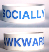Image of Socially Awkward Bracelet [white]