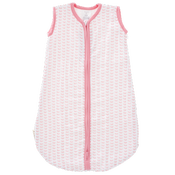 Image of Pink Stem Organic Muslin Sleeping Bag