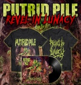 Image of PUTRID PILE- REVEL IN LUNACY ONLY T-SHIRT