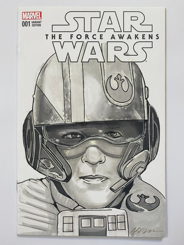 Image of Star Wars #1 'Poe Dameron' Sketch Cover Original Art Hand Drawn