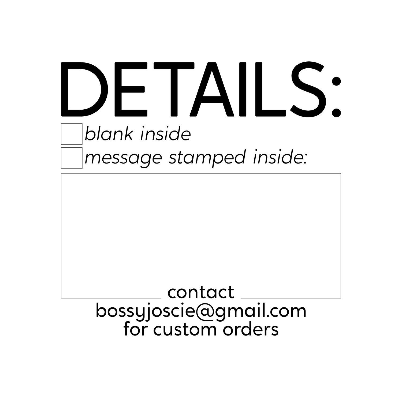 Image of CARD DETAILS STAMP