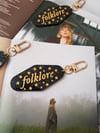 Folklore Acrylic Keychains (gold)