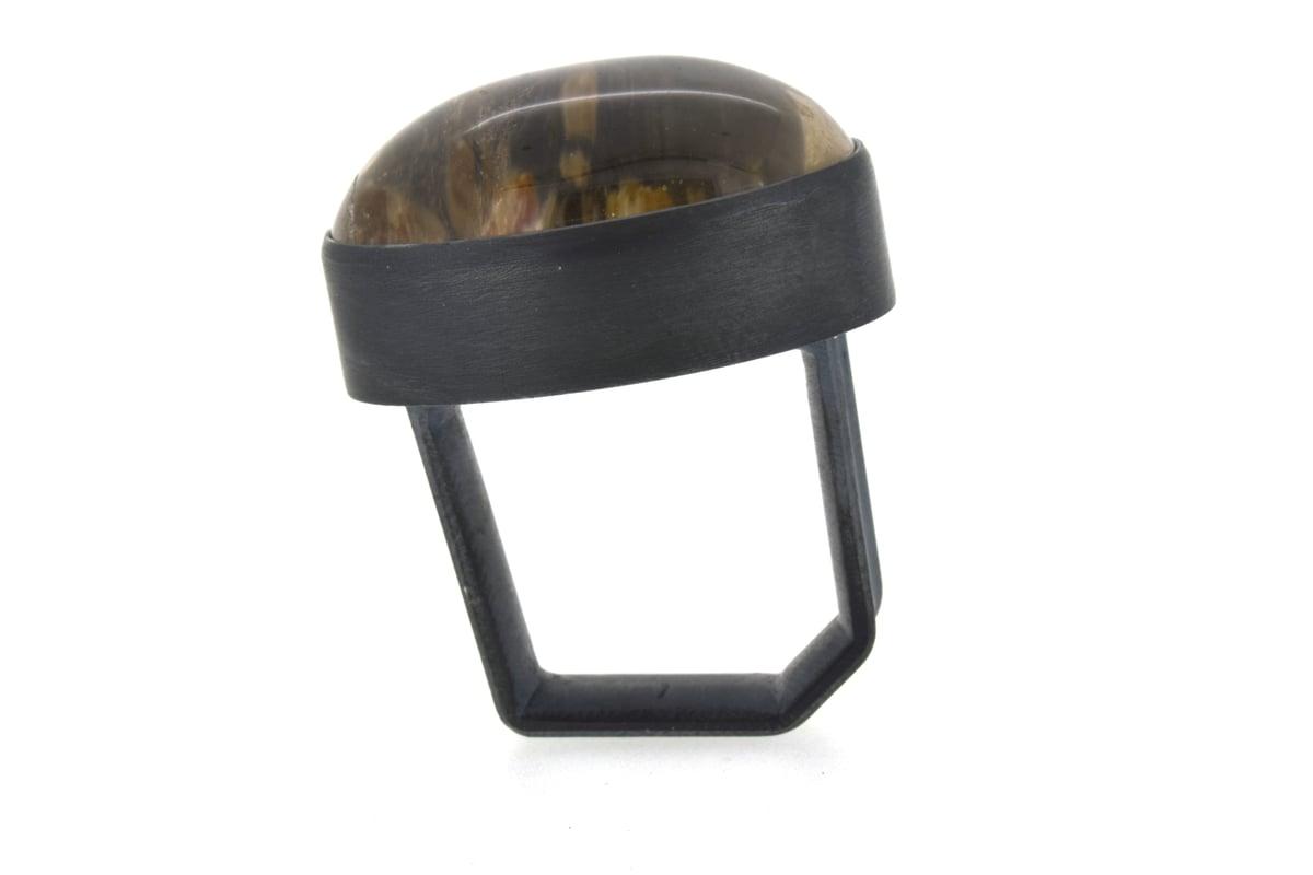 Large Lodolite Quartz Monolith Ring