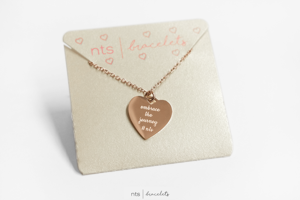 Image of LIMITED EDITION LIFELINE NECKLACE EMBRACE THE JOURNEY  (Heart + Rose Gold)