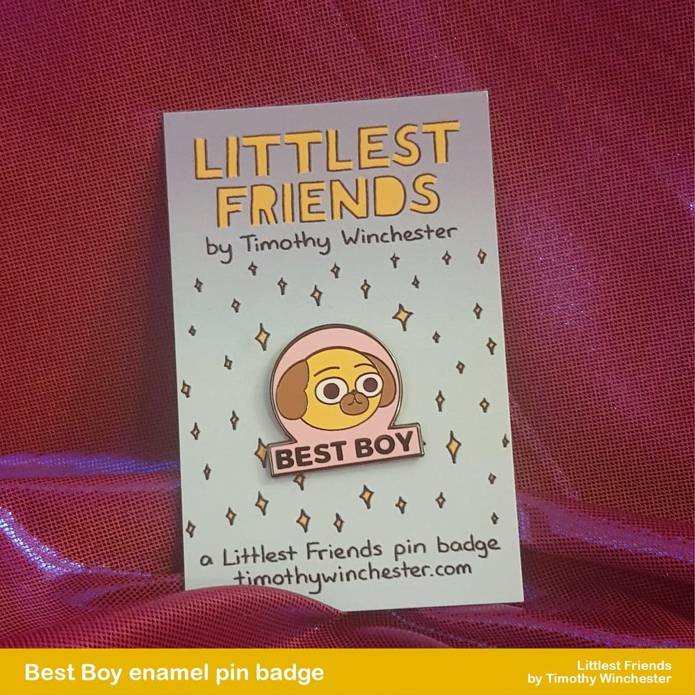 Best Boy - 25mm hard enamel pin badge