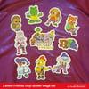 Littlest Friends - vinyl sticker mega set