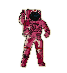 Image of Pink Astronaut Sticker