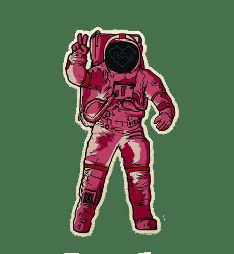 Pink Astronaut Sticker