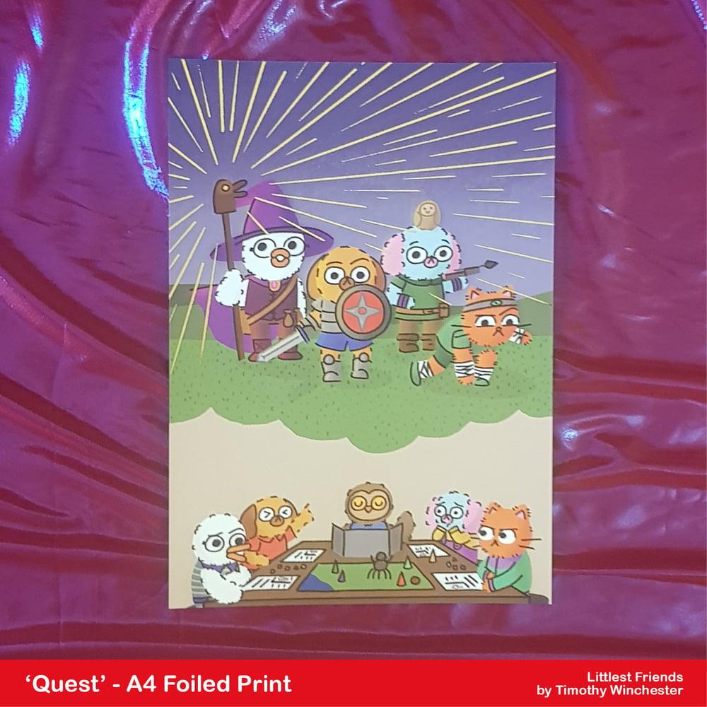 'Quest' - A4 foiled art print