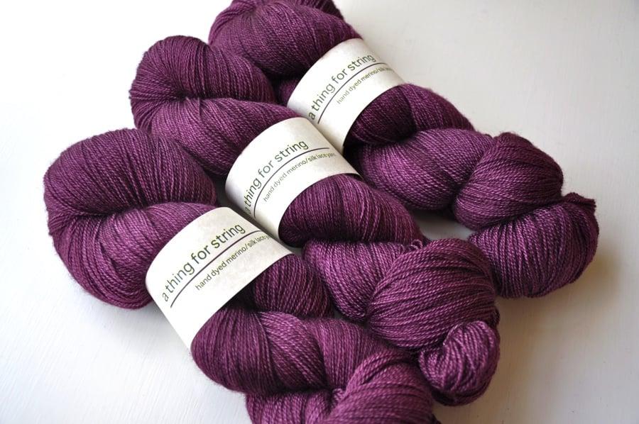 Image of Merino/Silk Lace — Aubergine
