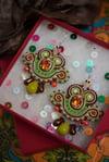 Mini Earrings - Sorbet d'été - Petites boucles brodées