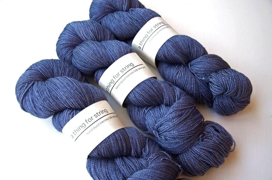 Image of Merino/Silk Lace — Cold Steel
