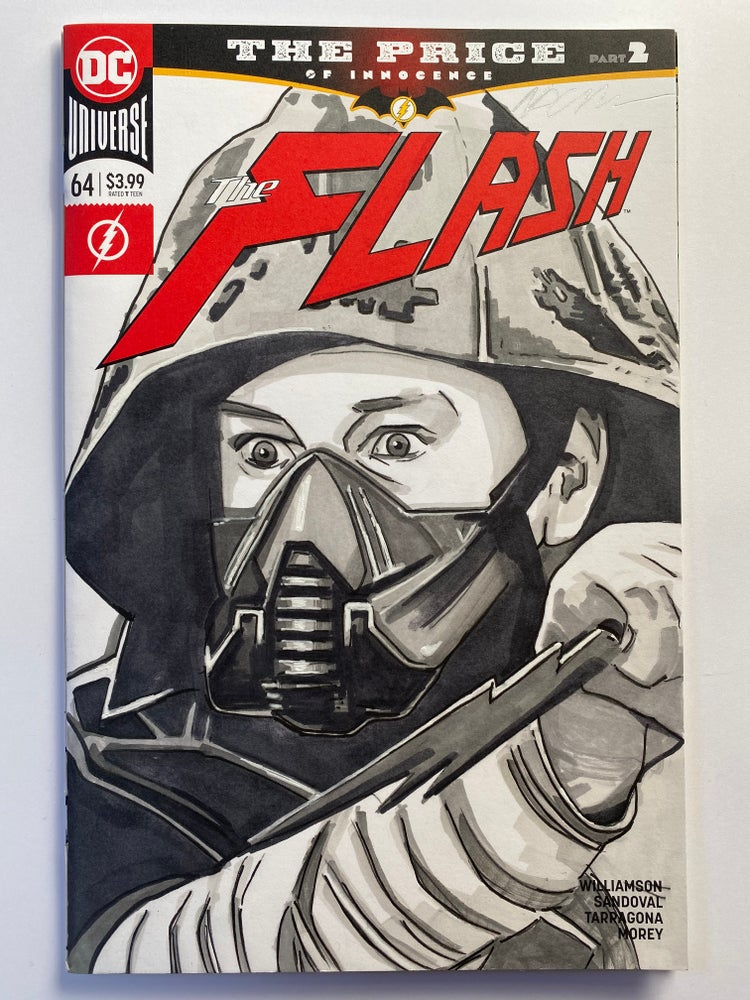 Image of DC Comics The Flash #64 Sketch Cover with 'Cicada' Original Art