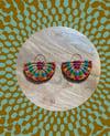•bon bon• woven earrings - summer multi