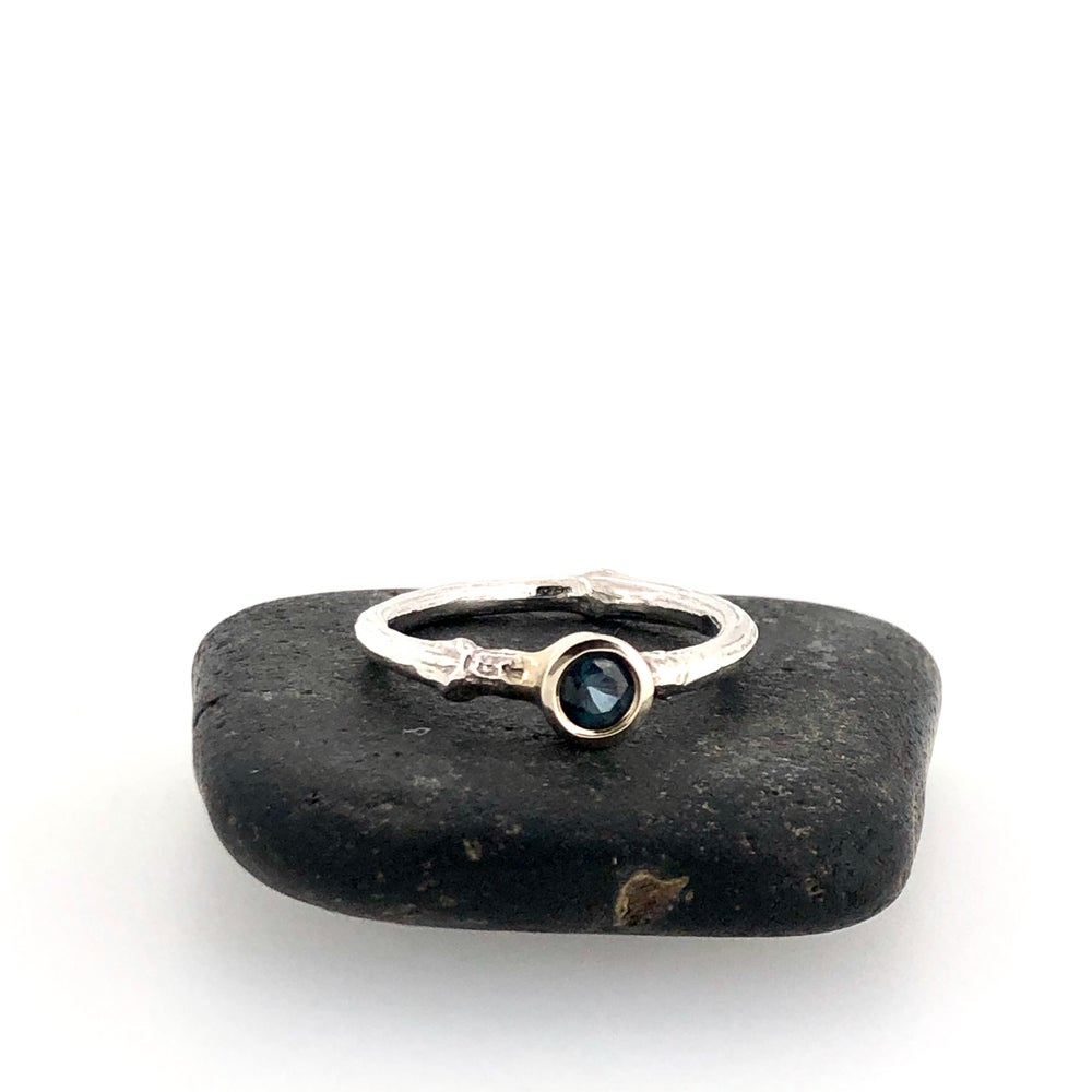 Image of Fair trade sapphire engagement ring . 14k gold