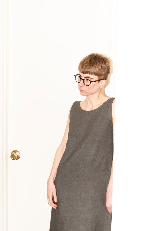 Image of Pencil Dress - Gray Linen