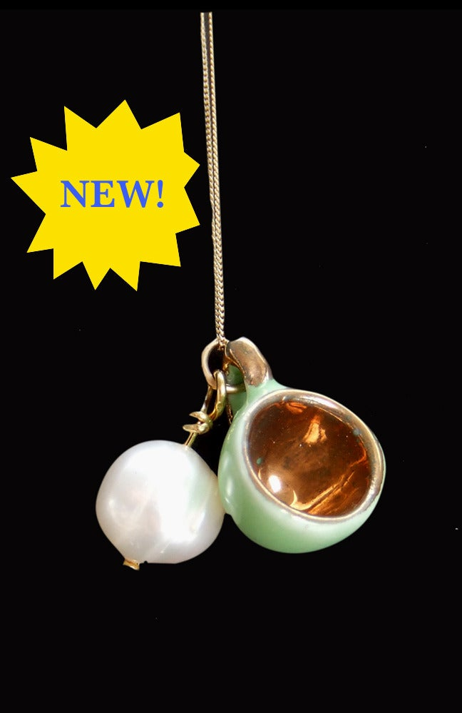 Image of pearl and cup necklace