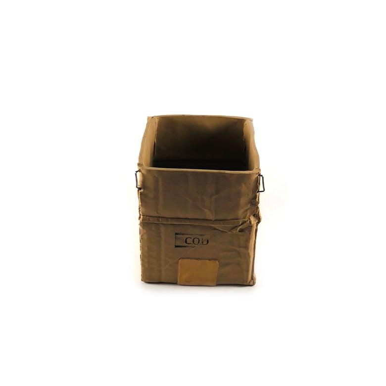 Image of Michel Harvey Ceramic Corrugated Box Vase (Small)