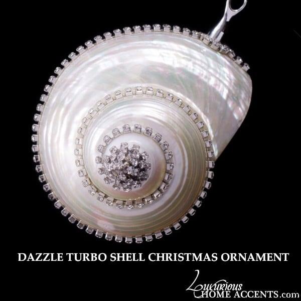 Image of  Swarovski Crystal Turbo Seashell Holiday Ornament Collectible