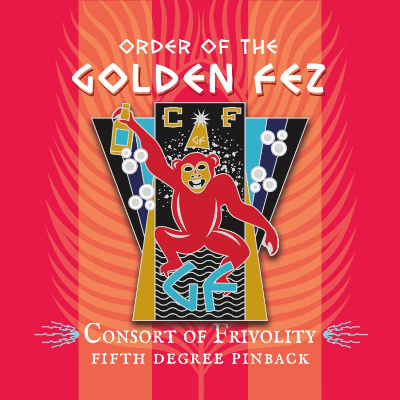 Image of Order of the Golden Fez Consort of Frivolity 5th Degree Enameled Pin