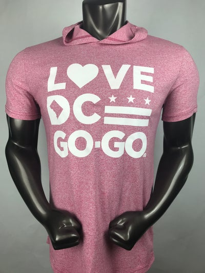 Image of Love DC Love - Pink & White Party Hooded Tshirt