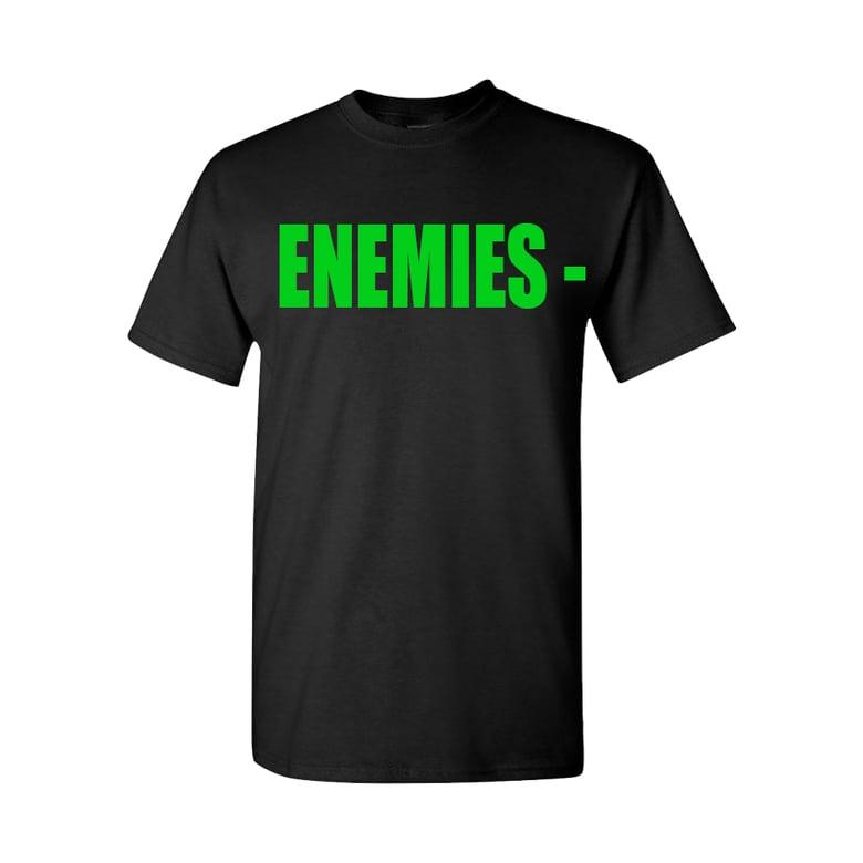 Image of BLACK ENEMIES TEE (GREEN)