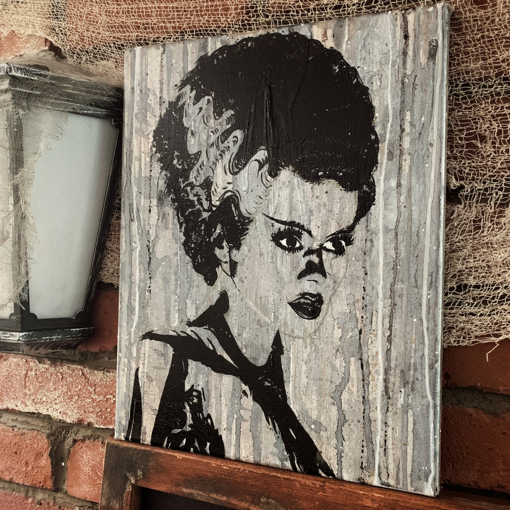 Image of Bride of Frankenstein Painting