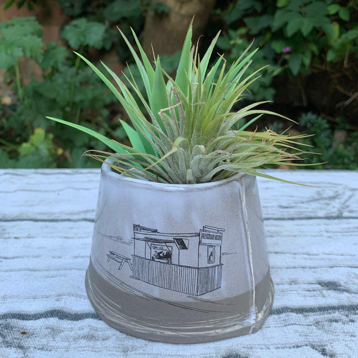 Small shorter anthracite jar, Blackheath Tea Hut