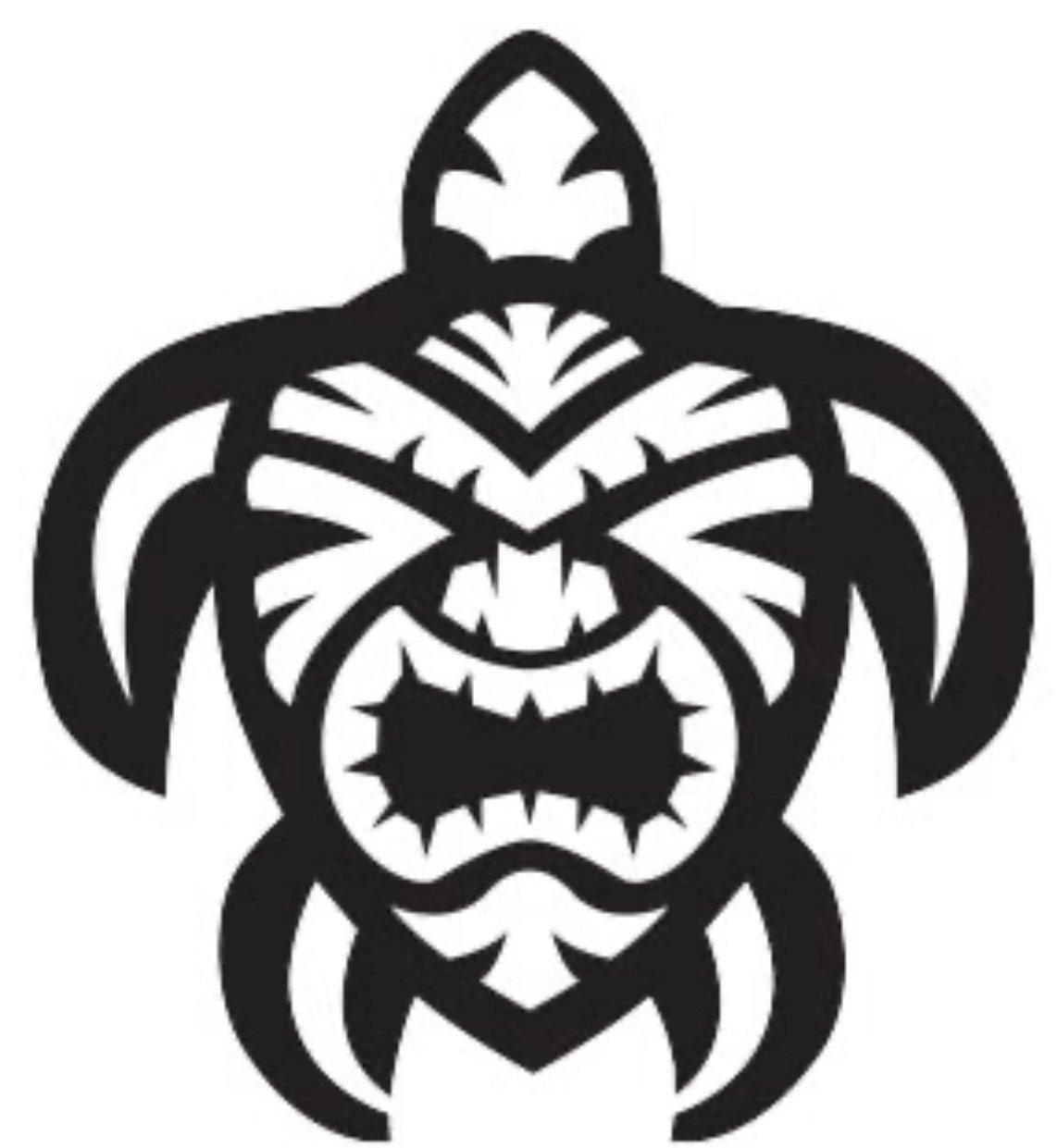 Image of Tiki Turtle Vinyl sticker.